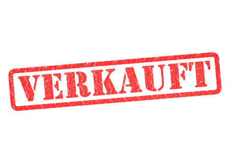 stempel: Verkauft (Sold) Stamp over a white background. Stock Photo
