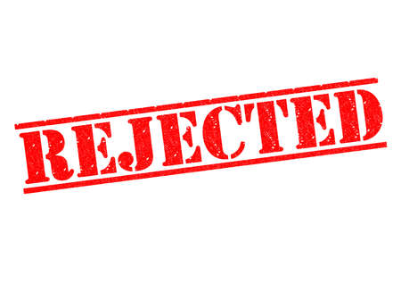 defective: REJECTED red rubber stamp over a white background.