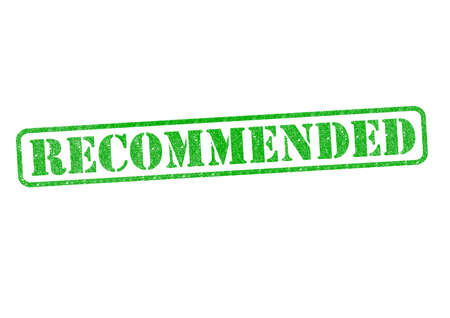 suggested: RECOMMENDED green rubber stamp over a white background.