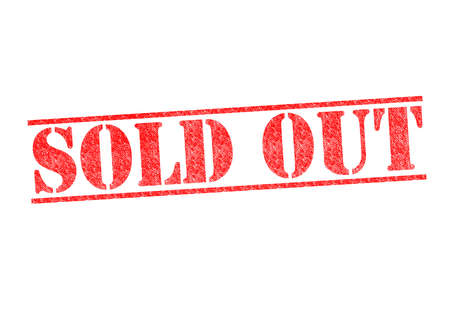 SOLD OUT red rubber stamp over a white background. Stock Photo - 17861874