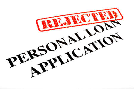 A close-up of a REJECTED Personal Loan Application document. Stock Photo - 18021989