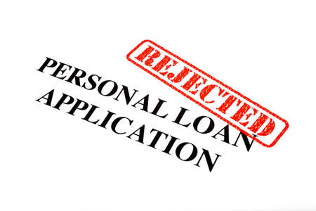 A close-up of a REJECTED Personal Loan Application document. Stock Photo - 18021987