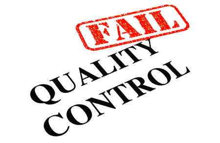 unsuccessful: A close-up of an unsuccessful Quality Control Test document. Stock Photo