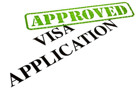 visa approved: A close-up of an APPROVED Visa Application document