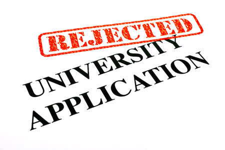 university application: A close-up of a REJECTED University Application