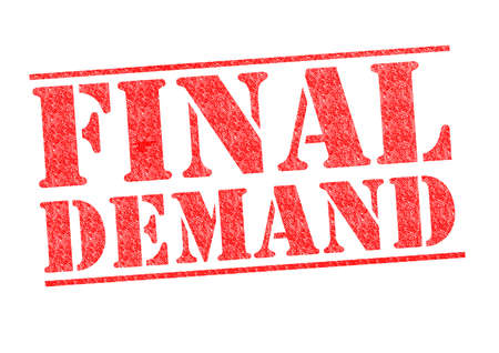 FINAL DEMAND rubber stamp over a white background.