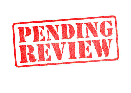 PENDING REVIEW rubber stamp over a white background. Stock Photo - 18146888