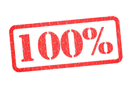 concluded: 100% red rubber stamp over a white background.