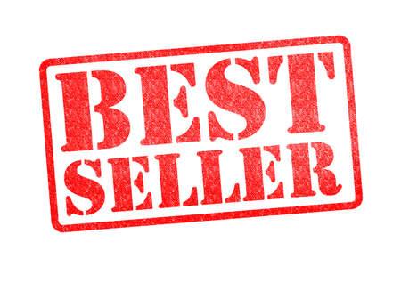 vendedores: BEST SELLER sello de goma roja sobre un fondo blanco.