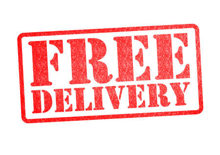 FREE DELIVERY Rubber Stamp over a white background