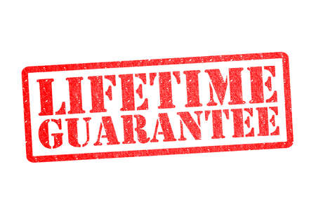 lifetime: LIFETIME GUARANTEE Rubber Stamp over a white background