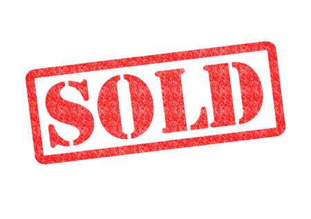 vendiendo: Rubber Stamp VENDIDO sobre un fondo blanco