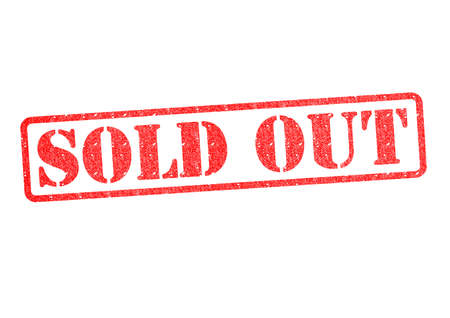 SOLD OUT Rubber Stamp over a white background  photo