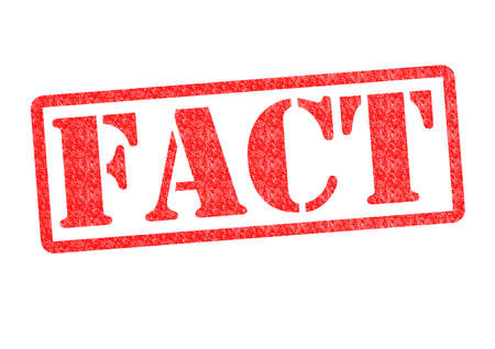 FACT Rubber Stamp over een witte achtergrond. Stockfoto