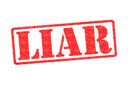 deceive: LIAR Rubber Stamp over a white background. Stock Photo