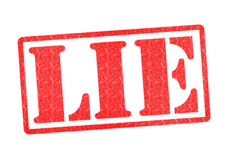deceitful: LIE Rubber Stamp over a white background. Stock Photo