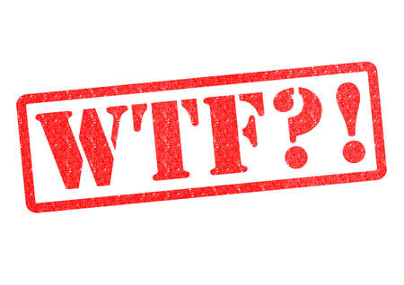 jargon: WTF?! Rubber Stamp over a white background. Stock Photo