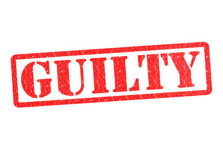 GUILTY rubber stamp over a white background. Stock Photo - 18792262