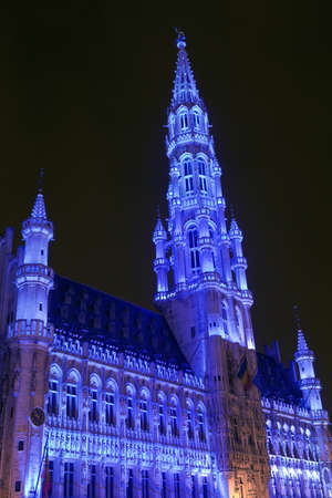 ville: Brussels City Hall  Hotel de Ville  located in Grand Place in Brussels, Belgium