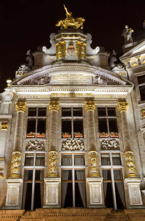 guildhalls: One of the Guildhalls on the Grand Place in Brussels, Belgium. Editorial