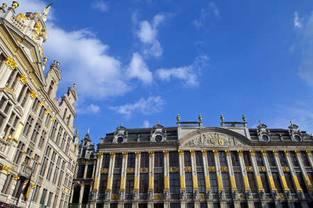 guildhalls: Some of the Guildhalls in the Grand Place in Brussels, Belgium.