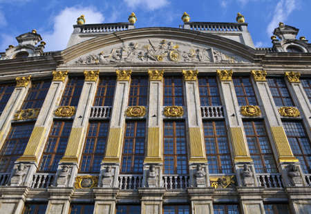 guildhalls: One of the historic Guildhalls in the Grand Place in Brussels, Belgium.