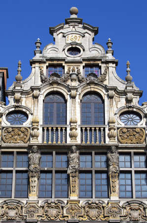 guildhalls: One of the Guildhalls in the Grand Place in Brussels, Belgium.
