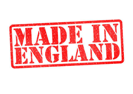 MADE IN ENGLAND Rubber Stamp over a white background  photo