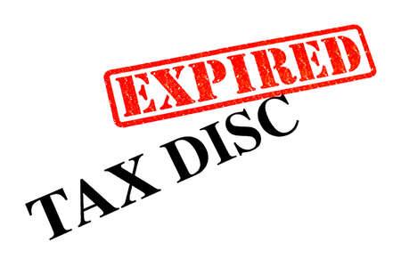 expired: Tax Disc has EXPIRED. Stock Photo