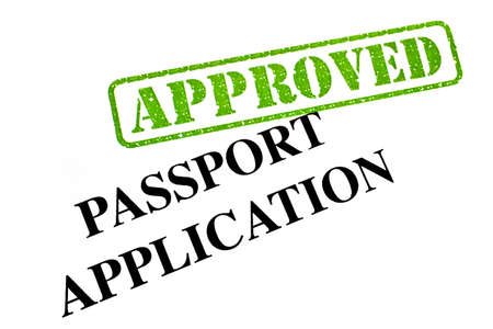 Passport Application has been APPROVED. Stock Photo - 19067008