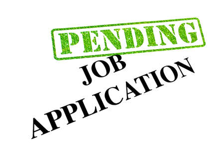 Job Application is PENDING. Stock Photo - 19067007