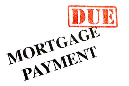 due: Mortgage Payment is DUE. Stock Photo