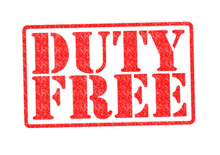 DUTY FREE Rubber Stamp over a white background. photo