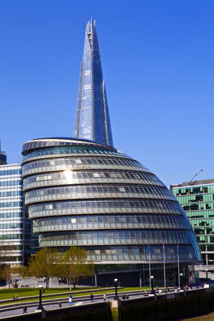 shard: View of City Hall and the Shard in London. Editorial