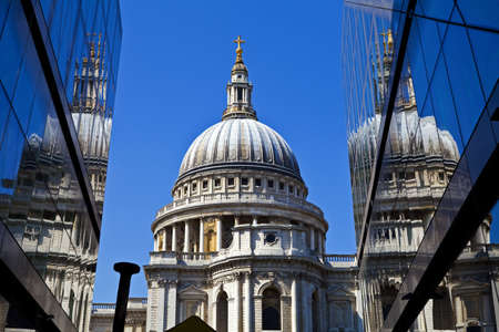 A view of St Pauls Cathedral in London. Stock Photo - 19412136