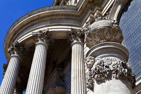 Architectural detail of St Pauls Cathedral in London  photo