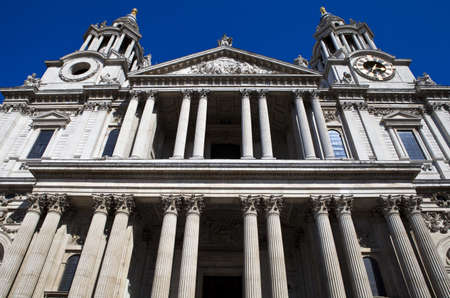 The impressive exter of St Pauls Cathedral in London  Stock Photo - 19412048