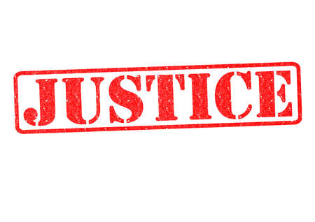 lawfulness: JUSTICE Rubber Stamp over a white background.