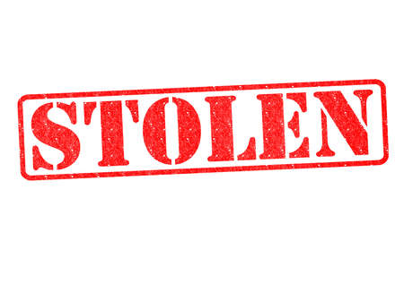 kidnap: STOLEN Rubber Stamp over a white background. Stock Photo