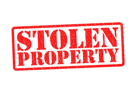 abducted: STOLEN PROPERTY Rubber Stamp over a white background.