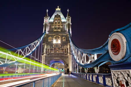 The view on Tower Bridge at night, London Stock Photo - 19869252