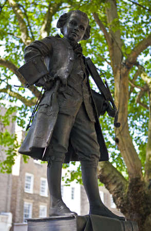 amadeus: A statue of composer Wolfgang Amadeus Mozart in London  Editorial