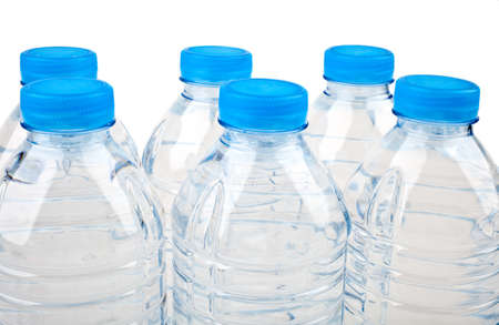 Bottled Water over a white background.
