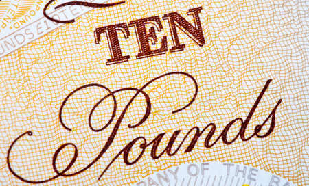 Abstract shot of a British Ten Pound (�10) Note. photo
