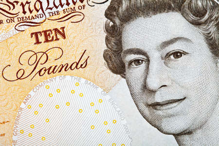 cashflow: Resumen disparo de un brit?co Ten Pound (10) Nota.