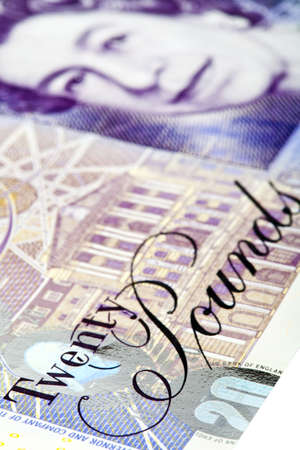 An abstract shot of a British �20 Note. photo