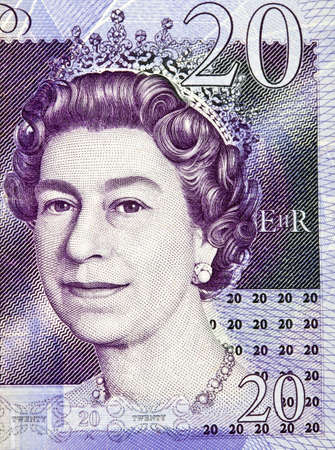 The Queens picture on the £20 English Banknote.