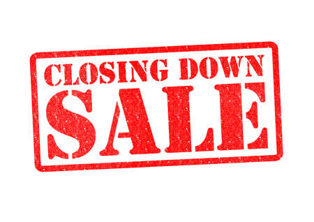 CLOSING DOWN SALE Rubber Stamp over a white background. photo
