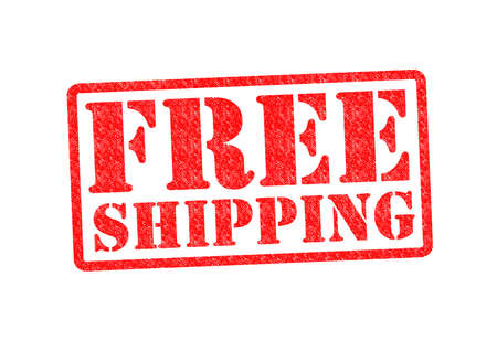 free shipping: FREE SHIPPING Rubber Stamp over a white background. Stock Photo