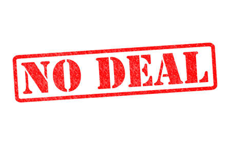 unapproved: NO DEAL Rubber Stamp over a white background. Stock Photo